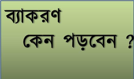 ব্যাকরণ পাঠের প্রয়োজনীয়তা - বাংলা ব্যাকরণ
